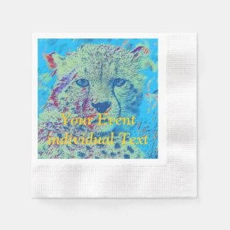 Versión colorida del guepardo servilleta de papel
