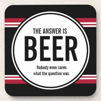 (Versión de G) la cerveza divertida es el práctico Posavaso