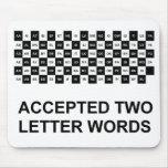 Versión de los dos de la letra de las palabras de  tapete de ratones