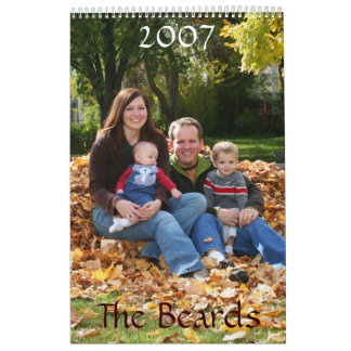 Versión de Sarah, las barbas, 2007 Calendario De Pared