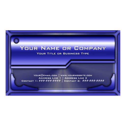 Versión de tarjeta metálica de alta tecnología 2 c plantillas de tarjetas de visita