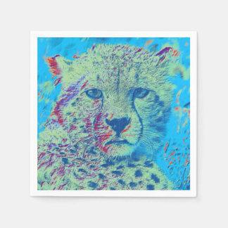 Versión del azul del guepardo servilletas desechables
