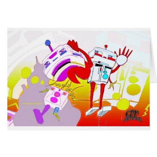 Versión del color de la lucha del robot tarjetón