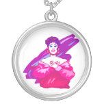 Versión del gráfico del cantante, púrpura y rosada joyería