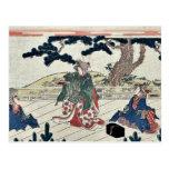Versión del juego de Sarugaku por Katsukawa, Shuns Postales