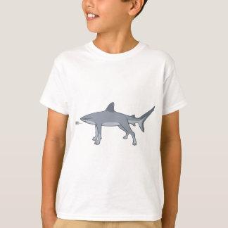 Versión del literal del tiburón del perro playera