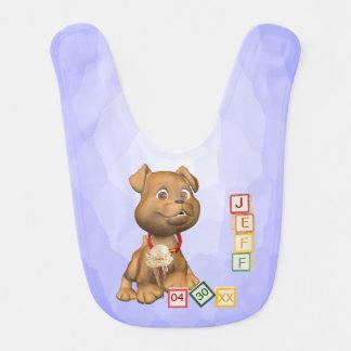 Versión del nombre de letra 4 - personalizable - b baberos para bebé