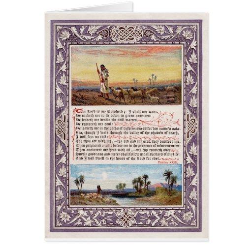 Version del salmo 23 de domingo en casa de rey Jam Tarjetón