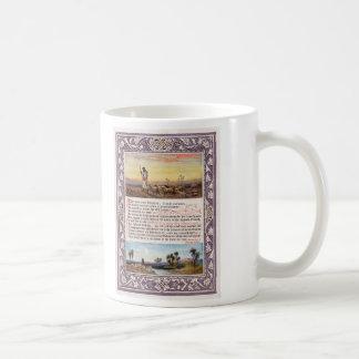 Version del salmo 23 de domingo en casa de rey taza de café