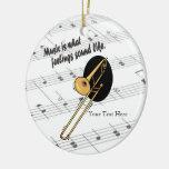 Versión del Trombone - como qué sensaciones suene Adorno Navideño Redondo De Cerámica