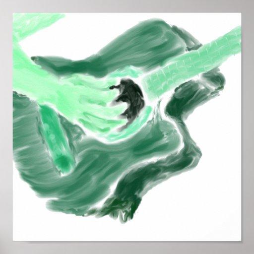 Versión del verde de la imagen de la pintura de la posters