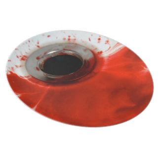 Versión doméstica del dren sangriento plato para fiesta