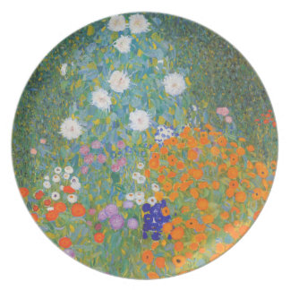 Versión IV Nouveau de la pintura del jardín de flo Platos De Comidas