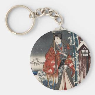 Versión moderna del cuento de Genji en escena de l Llaveros Personalizados