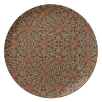 Versión oriental 2 del modelo de la decoración plato