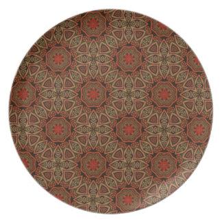 Versión oriental 7 del modelo de la decoración plato de cena