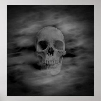 Versión oscura gótica 2 de Halloween del cráneo de Impresiones