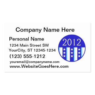 versión redonda 2012 del azul del sello de la elec plantilla de tarjeta de visita