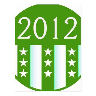 Versión redonda del fiesta del color verde del sel postales