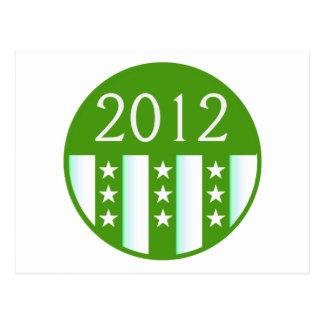 Versión redonda del fiesta del color verde del sel postal