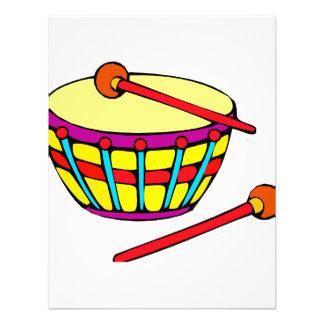 Versión simple redondeada del tambor invitación personalizada