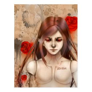 Versión sintética del rojo de la belleza tarjetas postales