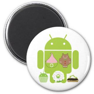 Versiones androides iman de nevera