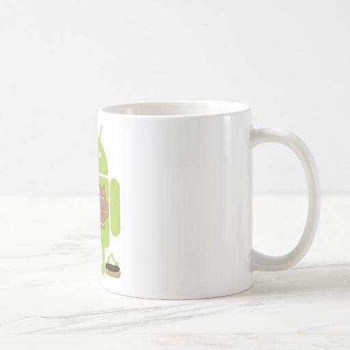 Versiones androides tazas de café
