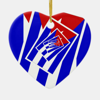 Versions of the flag of Cuba Ceramic Ornament