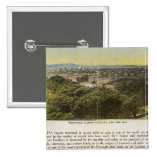 Verso Alameda County, Oakland and the Bay 2 Inch Square Button