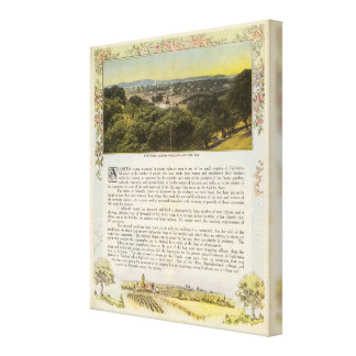 Verso Alameda County, Oakland and the Bay Canvas Print