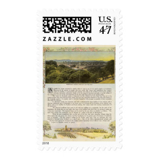 Verso Alameda County, Oakland and the Bay Postage