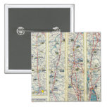 Verso American Airlines system map 2 Inch Square Button
