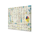 Verso American Airlines system map Canvas Print
