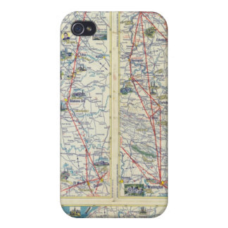 Verso American Airlines system map Case For iPhone 4