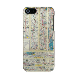 Verso American Airlines system map Metallic Phone Case For iPhone SE/5/5s