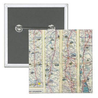 Verso American Airlines system map Pinback Button