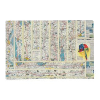 Verso American Airlines system map Placemat