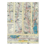Verso American Airlines system map Postcard
