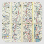 Verso American Airlines system map Square Sticker