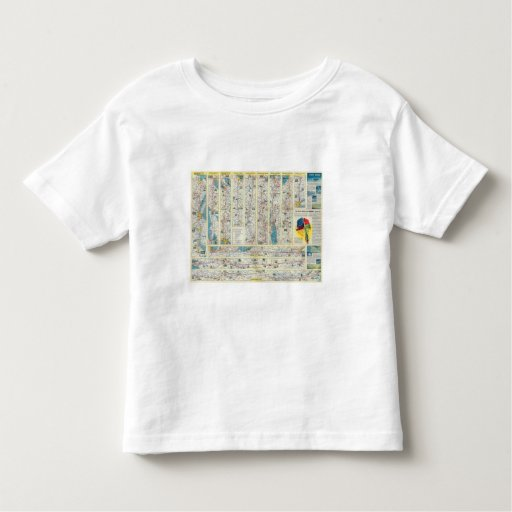 Verso American Airlines system map T-shirts