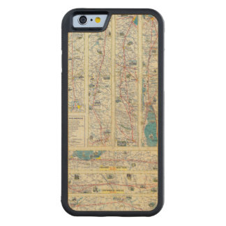 Verso American Airlines system map Carved® Maple iPhone 6 Bumper Case