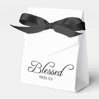 Verso bendecido de la biblia de los proverbios 31 cajas para regalos