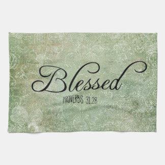 Verso bendecido de la biblia de los proverbios 31 toalla