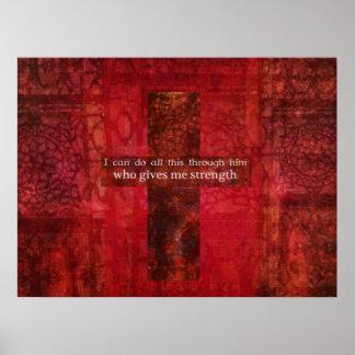 VERSO BÍBLICO del 4:13 de los filipenses CON la CR Posters