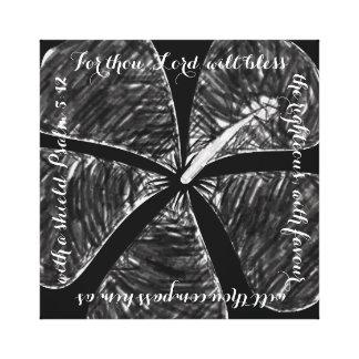 Verso blanco y negro de la biblia de la lona del impresión de lienzo