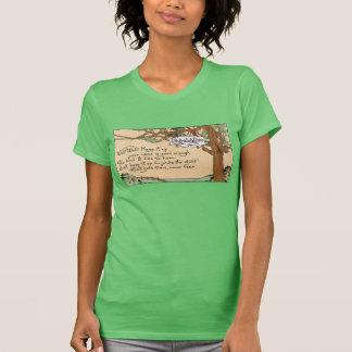 Verso congratulatorio y árbol del vintage camiseta