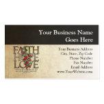 Verso cristiano de la biblia del amor de la espera plantilla de tarjeta de negocio