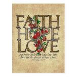 Verso cristiano de la biblia del amor de la espera tarjeta postal