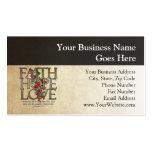Verso cristiano de la biblia del amor de la plantilla de tarjeta de negocio